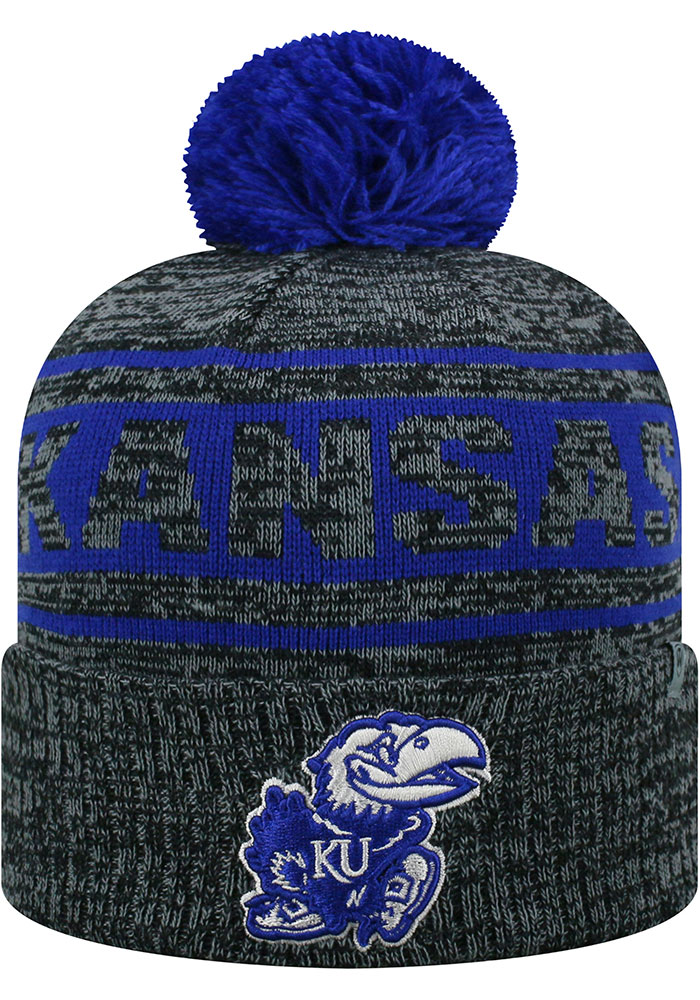 Top of the World Kansas Jayhawks Grey Sockit To Me Mens Knit Hat - Image 1