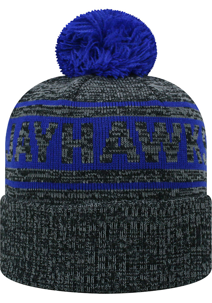 Top of the World Kansas Jayhawks Grey Sockit To Me Mens Knit Hat - Image 2