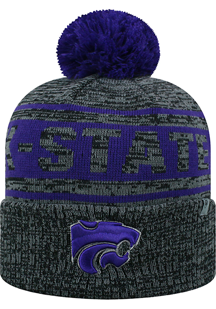 Top of the World K-State Wildcats Grey Sockit To Me Mens Knit Hat - Image 1