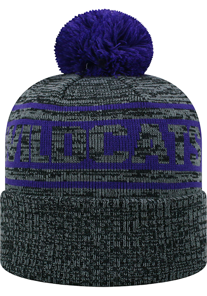 Top of the World K-State Wildcats Grey Sockit To Me Mens Knit Hat - Image 2