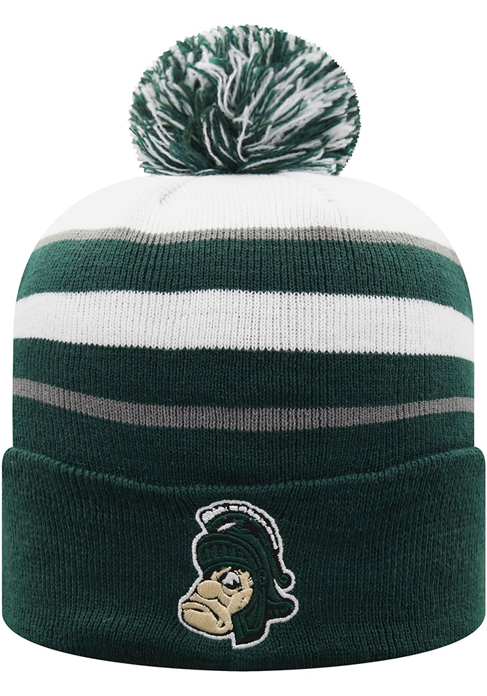 Top of the World Michigan State Spartans Green Skyview Mens Knit Hat - Image 1