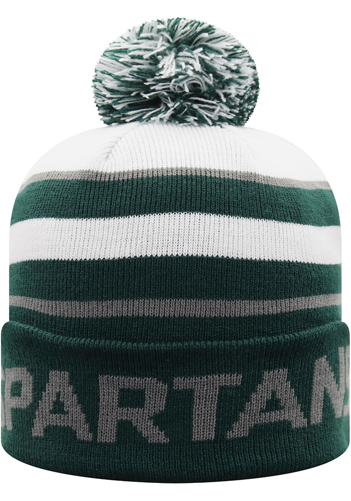 Top of the World Michigan State Spartans Green Skyview Mens Knit Hat - Image 2