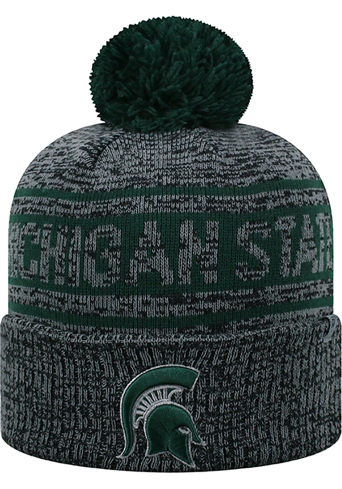 Top of the World Michigan State Spartans Grey Sockit To Me Mens Knit Hat - Image 1