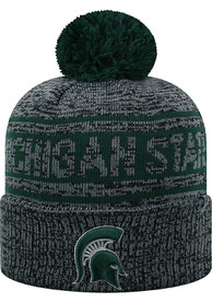 b236b93cbbf4d Top of the World Michigan State Spartans Grey Sockit To Me Knit Hat