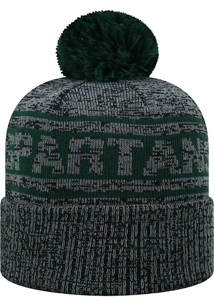 Top of the World Michigan State Spartans Grey Sockit To Me Mens Knit Hat - Image 2