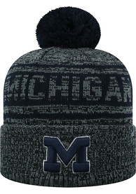 f9cb42b090d58 Top of the World Michigan Wolverines Grey Sockit To Me Knit Hat