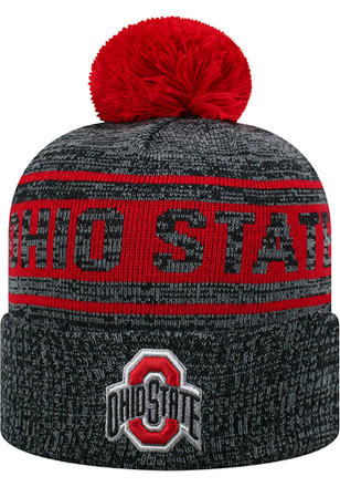 Top of the World Ohio State Buckeyes Grey Sockit To Me Knit Hat 29a5bb99546e