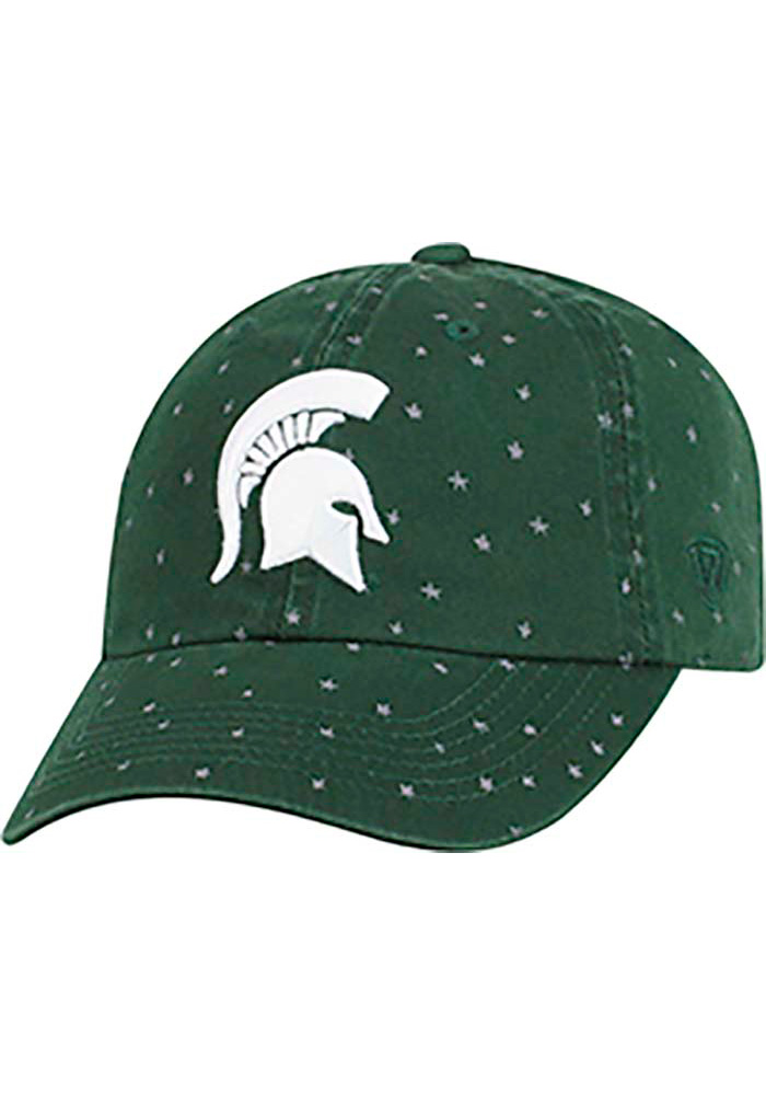 Top of the World Michigan State Spartans Green Starlite Womens Adjustable Hat - Image 1