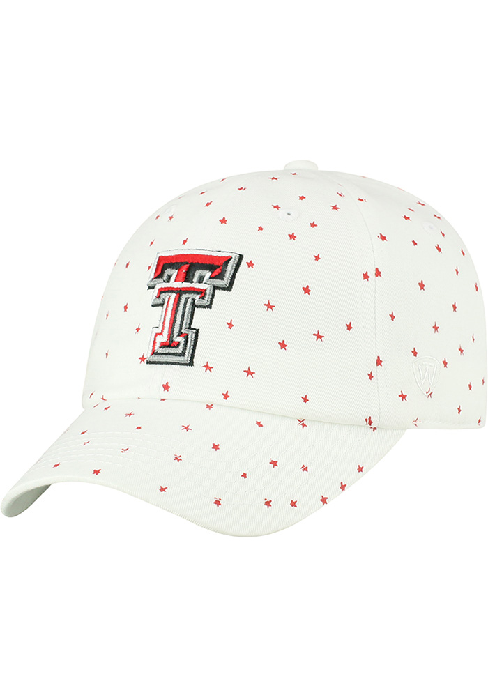 Top of the World Texas Tech Red Raiders White Starlite Womens Adjustable Hat - Image 1