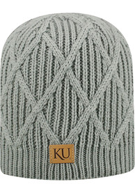 low priced 29ede fa6cb Top of the World Kansas Jayhawks Womens Grey Colt Knit Hat