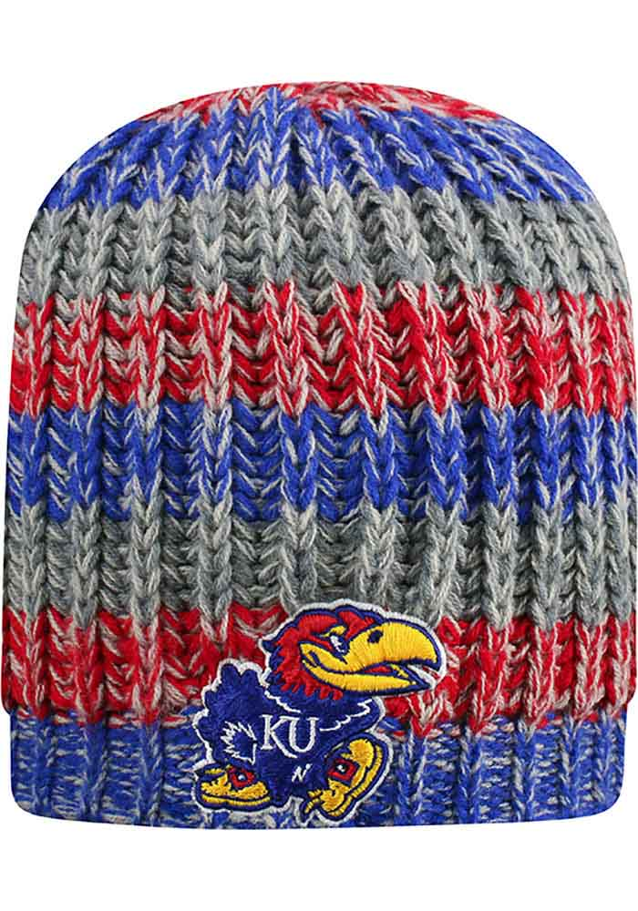 reputable site 78bed 0f0f7 Top of the World Kansas Jayhawks Womens Blue Realm Knit Hat