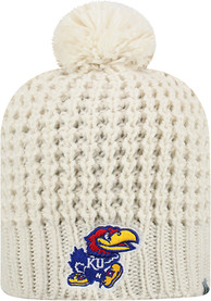 sports shoes b8d55 be6fa Top of the World Kansas Jayhawks Womens White Slouch Knit Hat