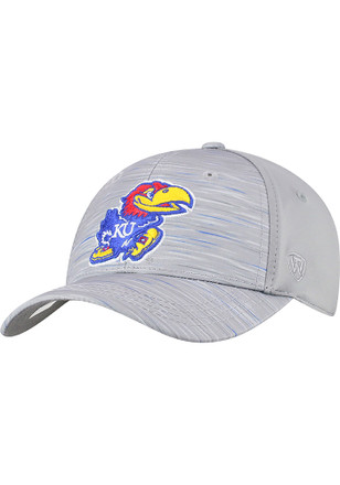 3b73b3f8d48 Top of the World Kansas Jayhawks Grey Hyper Yth Youth Flex Hat