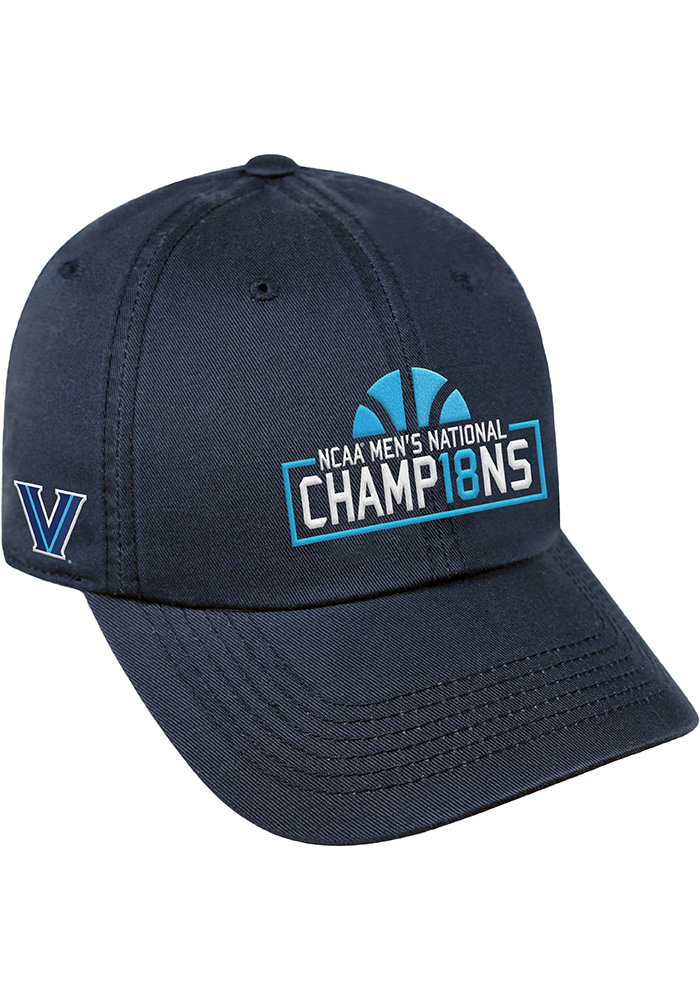 Top of the World Villanova Wildcats 2018 National Champion Box Crew Adjustable Hat - Navy Blue - Image 1