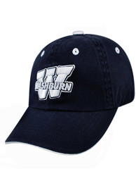 Washburn Ichabods Youth Top of the World Crew Adjustable Hat - Navy Blue