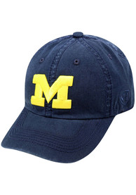 Michigan Wolverines Top of the World Crew Adjustable Hat - Navy Blue