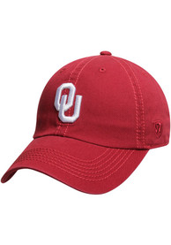 Oklahoma Sooners Top of the World Crew Adjustable Hat - Crimson