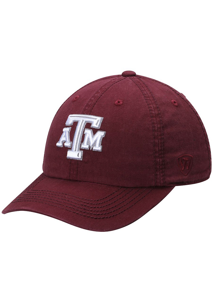 Top of the World Texas A&M Aggies Crew Adjustable Hat - Maroon - Image 1
