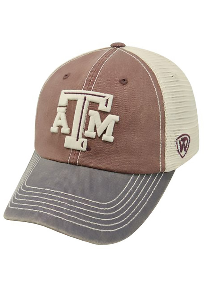 Texas A&M Aggies Top of the World Offroad Adjustable Hat - Maroon