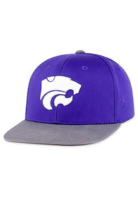 K-State Wildcats Youth Top of the World Maverick Snapback Hat - Purple