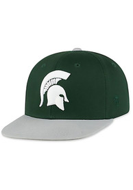 Michigan State Spartans Youth Top of the World Maverick Snapback Hat - Green