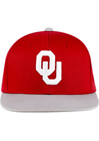 Oklahoma Sooners Youth Top of the World Maverick Snapback Hat - Crimson