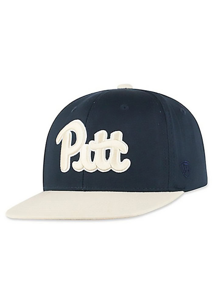 Top of the World Pitt Panthers Navy Blue Maverick Youth Snapback Hat - Image 1