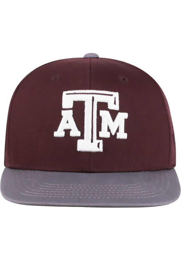 Top of the World Texas A&M Aggies Maroon Maverick Youth Snapback Hat - Image 1