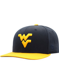 Top of the World West Virginia Mountaineers Youth Navy Blue Maverick Snapback Hat