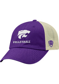 K-State Wildcats Top of the World Volleyball Dirty Mesh Adjustable Hat - Purple