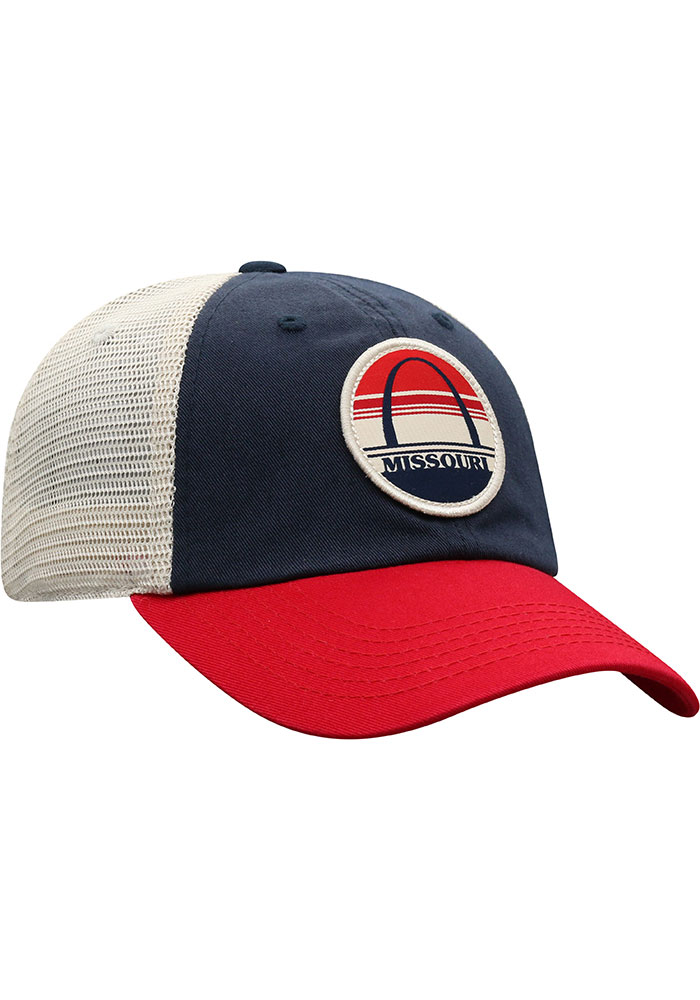 Top of the World Missouri Early Up Meshback Adjustable Hat - Navy Blue - Image 2
