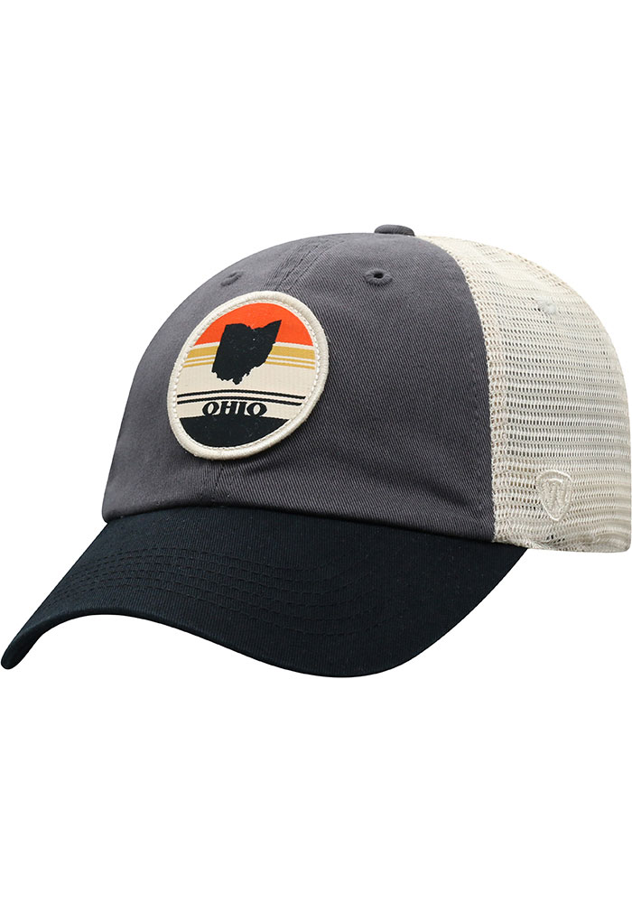 Top of the World Ohio Early Up Meshback Adjustable Hat - Black - Image 1