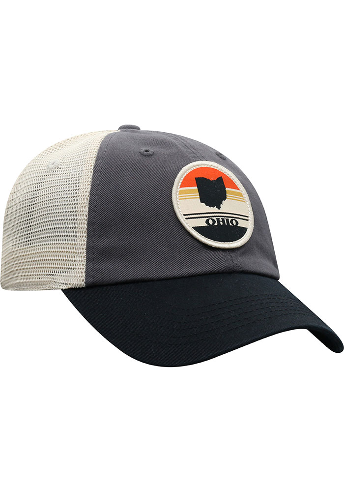 Top of the World Ohio Early Up Meshback Adjustable Hat - Black - Image 2