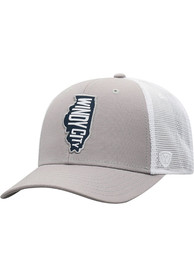 Chicago Top of the World High Rise Meshback Adjustable Hat - Grey