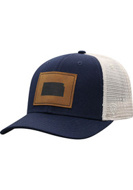 Kansas Top of the World Precise Meshback Adjustable Hat - Navy Blue