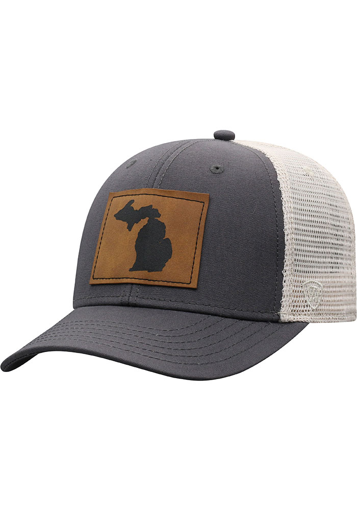 Top of the World Michigan Precise Meshback Adjustable Hat - Grey - Image 1