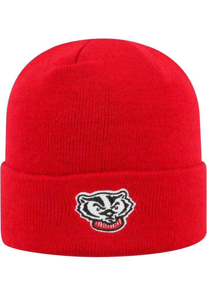 Top of the World Wisconsin Badgers Red Tow Cuff Mens Knit Hat - Image 2