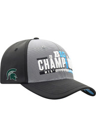 Michigan State Spartans Top of the World 2019 Big Ten Champions LR Adjustable Hat - Black
