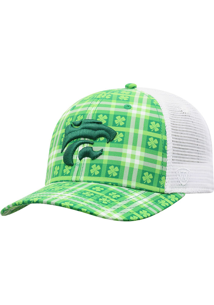 Top of the World K-State Wildcats Mens Green Kilter Meshback Adjustable Hat - Image 1