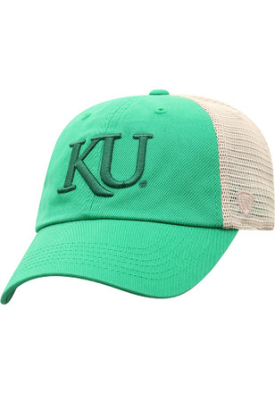 e3cee148af0 Top of the World Kansas Jayhawks Green Snog Meshback Adjustable Hat