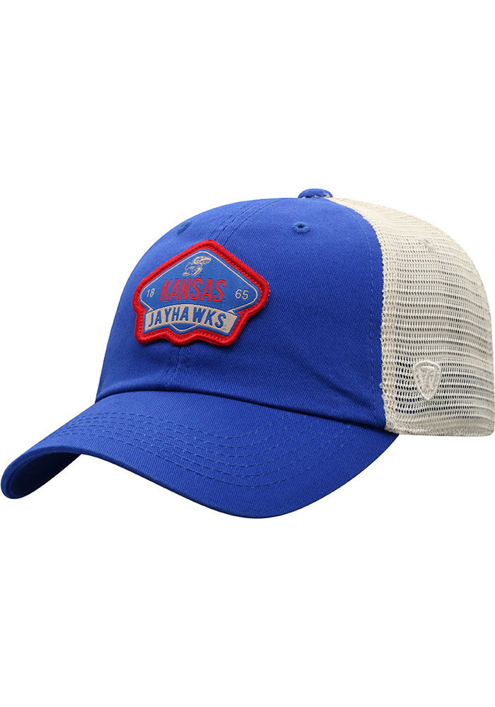 Kansas Jayhawks Top of the World Nitty Meshback Adjustable Hat - Blue