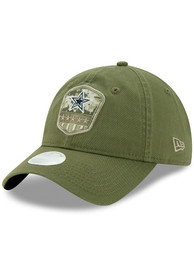 Dallas Cowboys Womens 2019 Salute to Service W 9TWENTY Adjustable - Olive