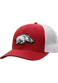 Arkansas Razorbacks Top of the World BB Meshback Adjustable Hat - Red