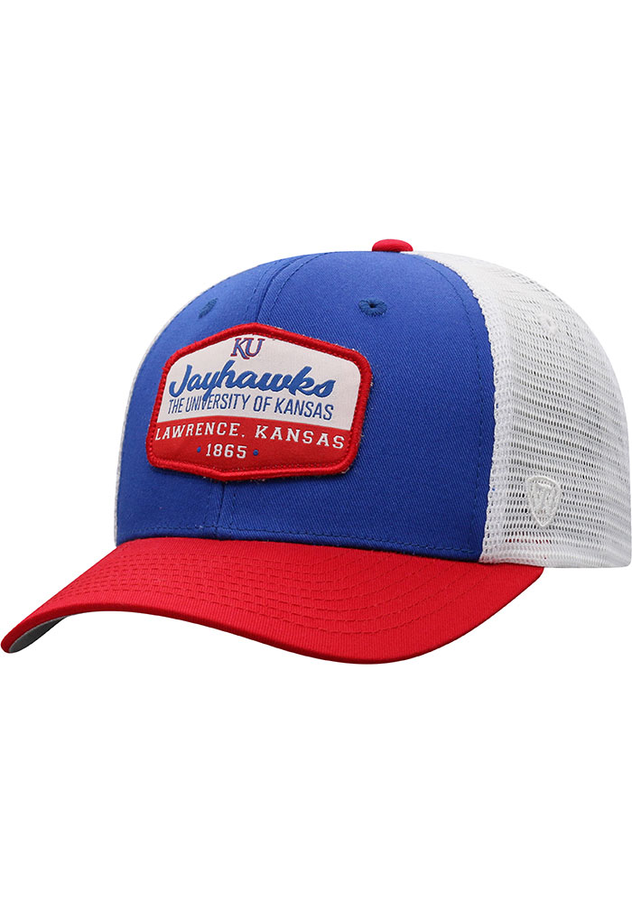 Top of the World Kansas Jayhawks Verge Meshback Adjustable Hat - Blue - Image 1