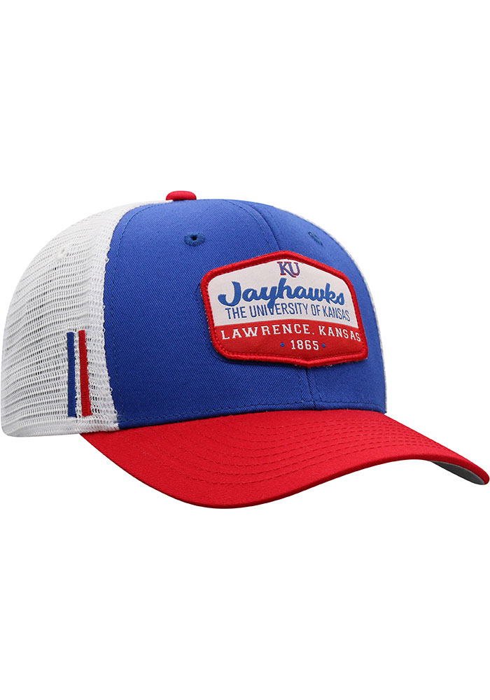Top of the World Kansas Jayhawks Verge Meshback Adjustable Hat - Blue - Image 2
