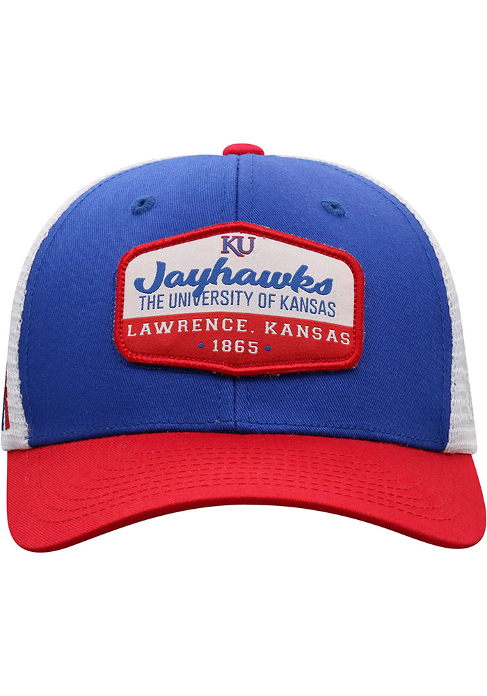 Top of the World Kansas Jayhawks Verge Meshback Adjustable Hat - Blue - Image 3