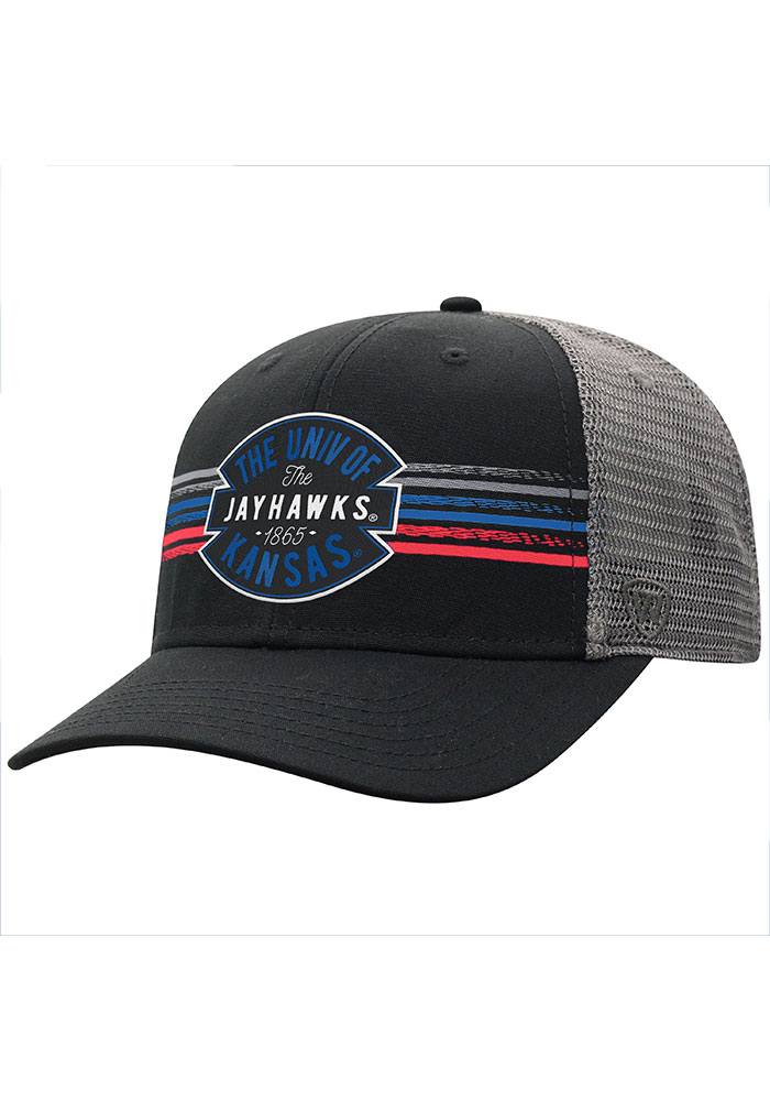 Kansas Jayhawks Top of the World Exchange Adjustable Hat - Black