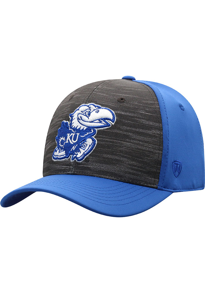 Top of the World Kansas Jayhawks Mens Blue Pepper Flex Hat - Image 1