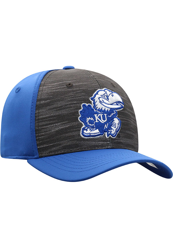 Top of the World Kansas Jayhawks Mens Blue Pepper Flex Hat - Image 2