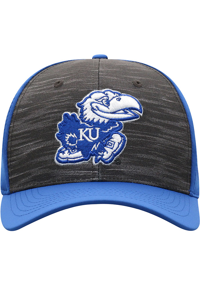 Top of the World Kansas Jayhawks Mens Blue Pepper Flex Hat - Image 3